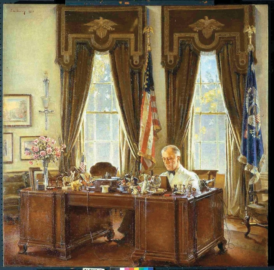 The oval office of the white house and its interiors Oval office decor by president