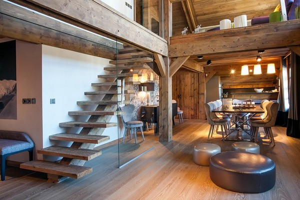 Two Level Apartment Transformed Into A Chalet Home