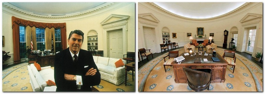 10-Ronald-Reagan-the-Oval-Office-White-House-interior-design-neo-classical-style