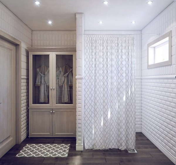 10-white-bathroom-interior-white-brick-tiles-with-beveled-edges-faux-wood-ceramic-floor-tiles-shower-room-small-wardrobe-changing-curtain