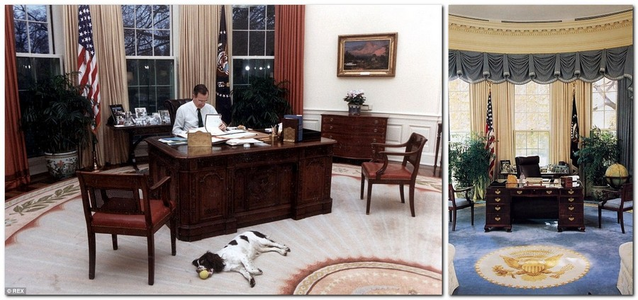 11-George-Bush-the-Oval-Office-White-House-interior-design-neo-classical-style