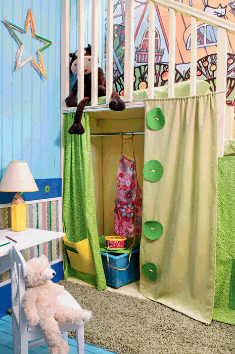 11-bright-wooden-toddler-kid's-girl's-bedroom-playroom-room-interior-design-mezzanine-bed-birdhouse-blue-and-green