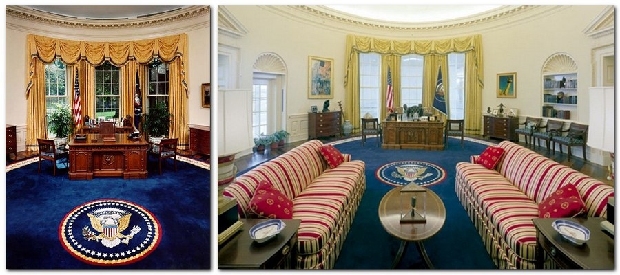 12-Bill-Clinton-the-Oval-Office-White-House-interior-design-neo-classical-style