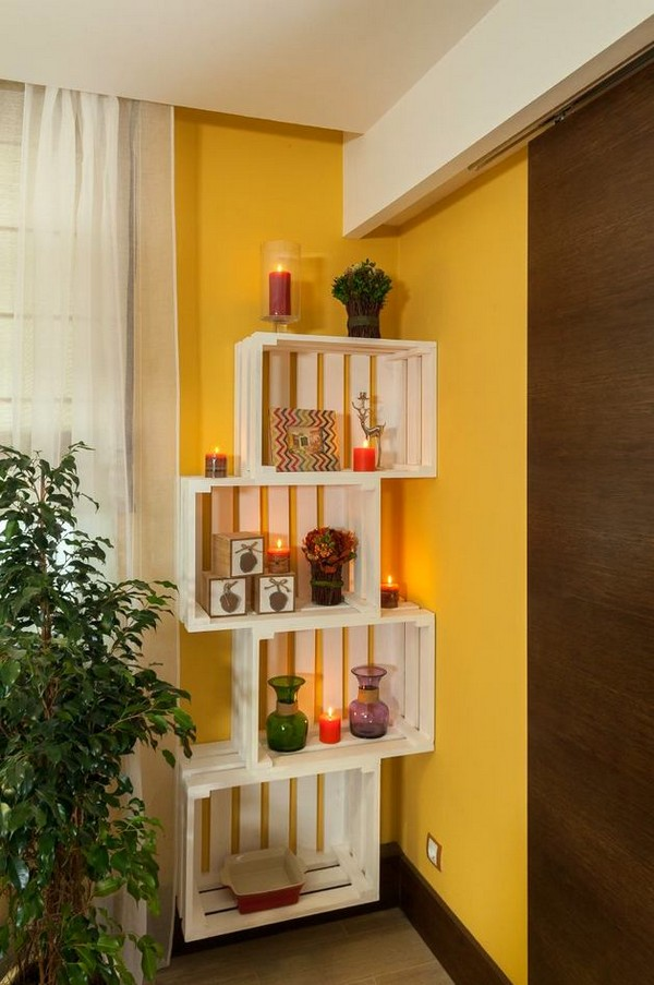 12-bright-green-yellow-brown-dining-living-room-interior-design-hand-made-open-shelving-wooden-planks-sliding-door
