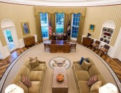 The Oval Office of the White House and Its Interiors