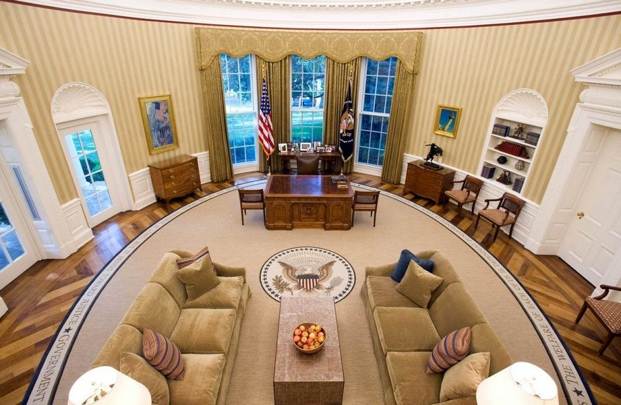 The Oval Office Of The White House And Its Interiors Home Interior Design Kitchen And Bathroom Designs Architecture And Decorating Ideas