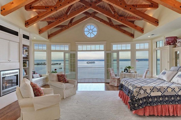 14-bedroom-interior-design-with-ocean-sea-view-panoramic-windows-bed-white-ceiling-beams