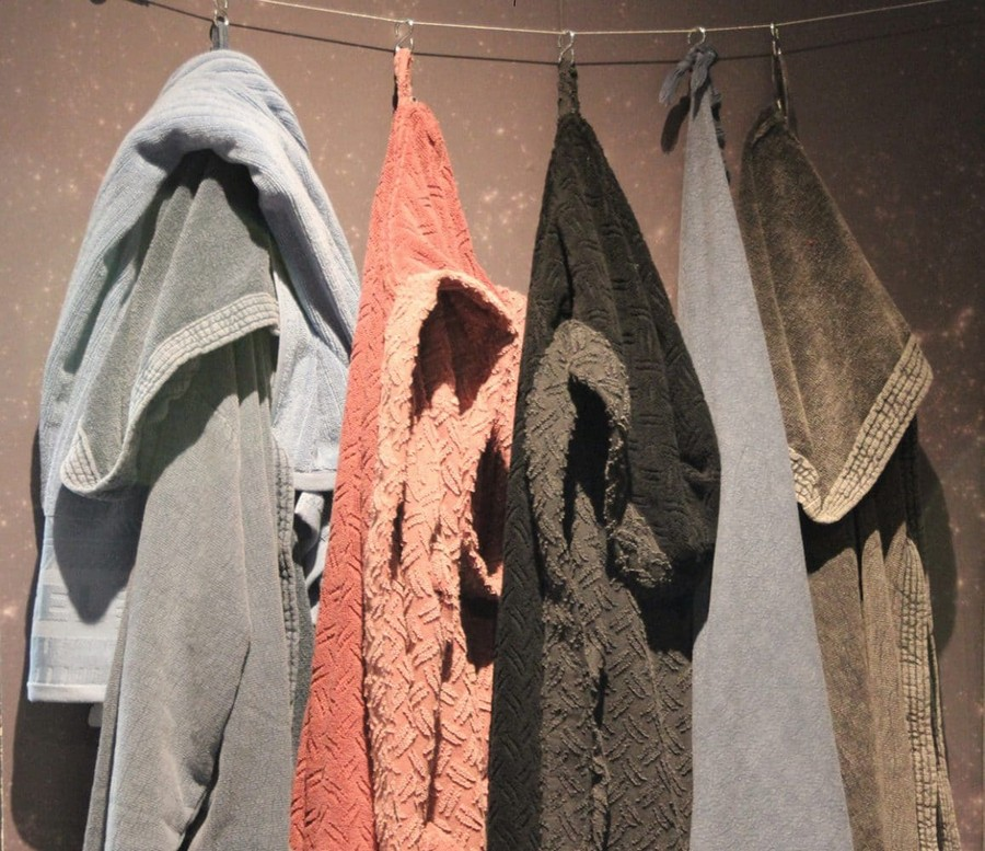 15-Diesel-Home-Linen-home-textile-at-Maison-&-Objet-2017-exhibition-trade-fair-bathrobes-pink-blue-gray