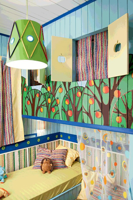 15-bright-toddler-kid's-girl's-bedroom-playroom-room-interior-design-wooden-painted-wall-blue-and-green