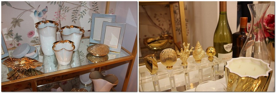 2-Aerin-home-decor-interior-accessories-at-Maison-&-Objet-2017-exhibition-trade-fair-gold-plated-porcelain-china-sea-shells-marine-theme