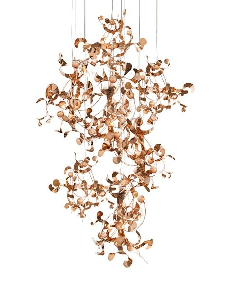 2-Brand-van-Egmond-designer-handcrafted-unusual-Kelp-ceiling-lamp-chandelier-red-copper-finish