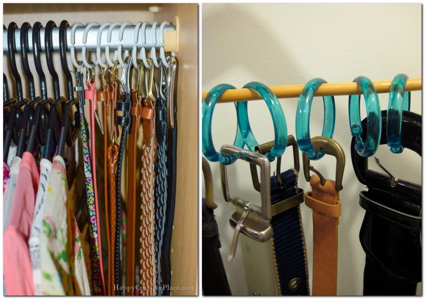 2-belt-storage-ideas-organizer-shower-curtain-rings-on-a-rod