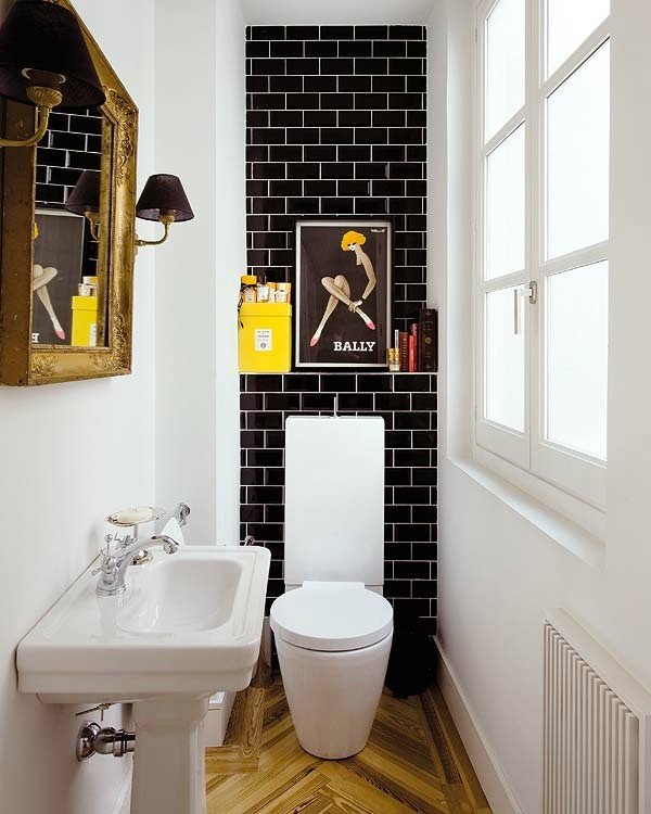 20-cheerful-white-black-and-yellow-bathroom-interior-design-brick-tiles