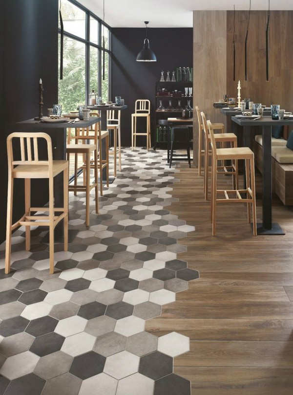 28-multicolor-gray-beige-brwon-hexagonal-floor-tiles-in-interior-design-zoning-wooden-floor-cafe-interior