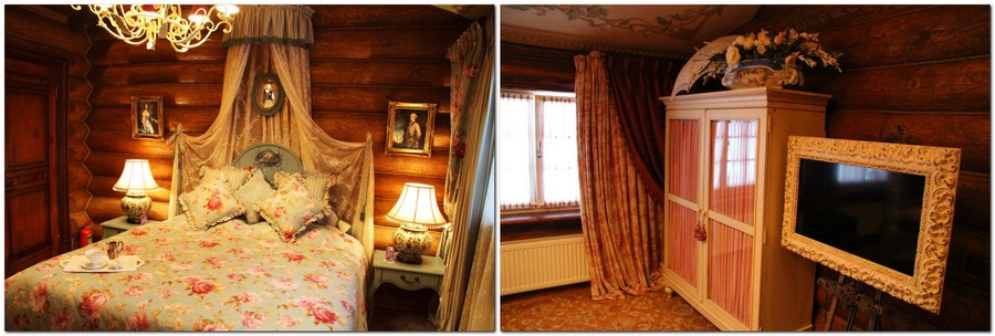 3-1-2-Russia-Seneshal-luxurious-hotel-interior-design-timber-house-Provence-classical-style-florsl-motives-canopy-bed