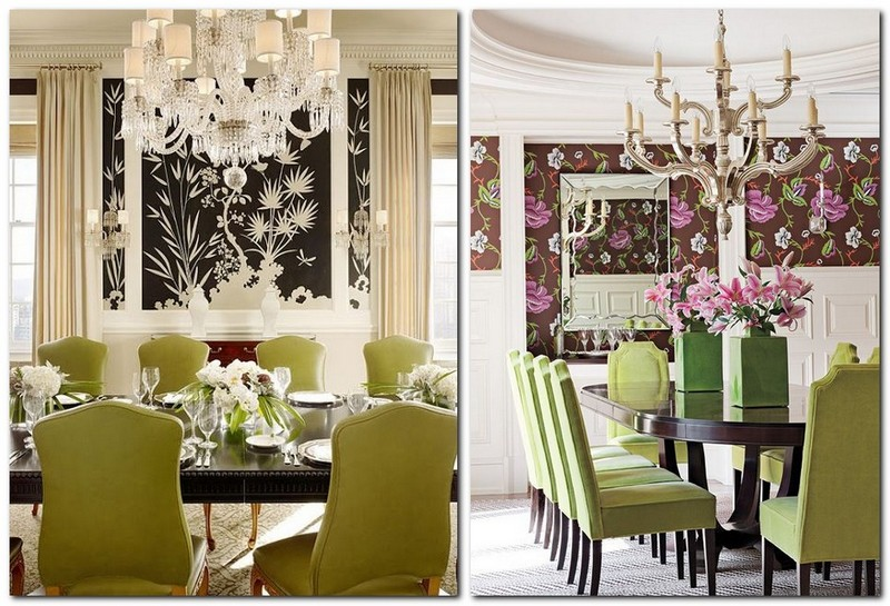 3-1-greenery-color-pantone-green-color-in-interior-design-dining-room-color-of-the-year-2017-classocal-style-floral-wallpaper