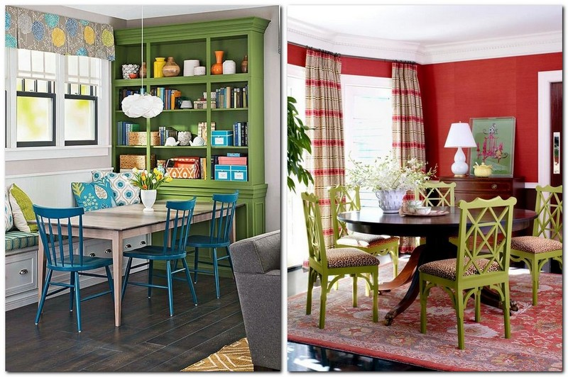 3-2-greenery-color-pantone-green-color-in-interior-design-dining-room-traditional-style-color-of-the-year-2017-cupboard-chairs-red-walls