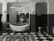 Black-and-White Bathroom Interior Design Tips