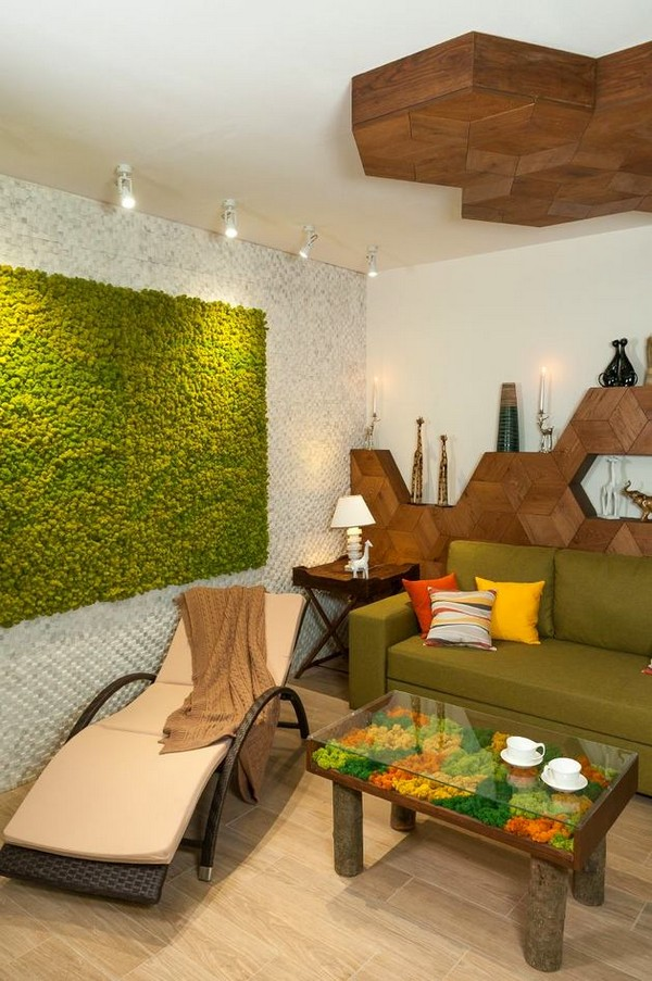 3 Bright Green Yellow Brown Dining Living Room