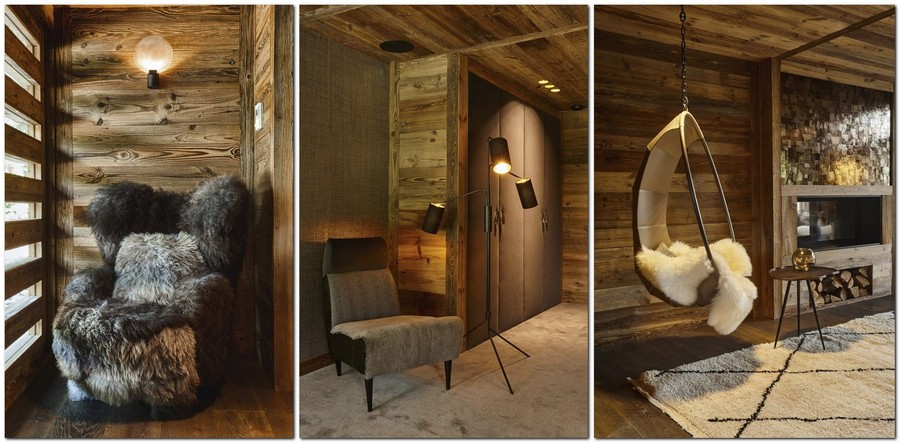 3-contemporary-chalet-style-interior-design-fireplace-suspended-arm-chair-fur