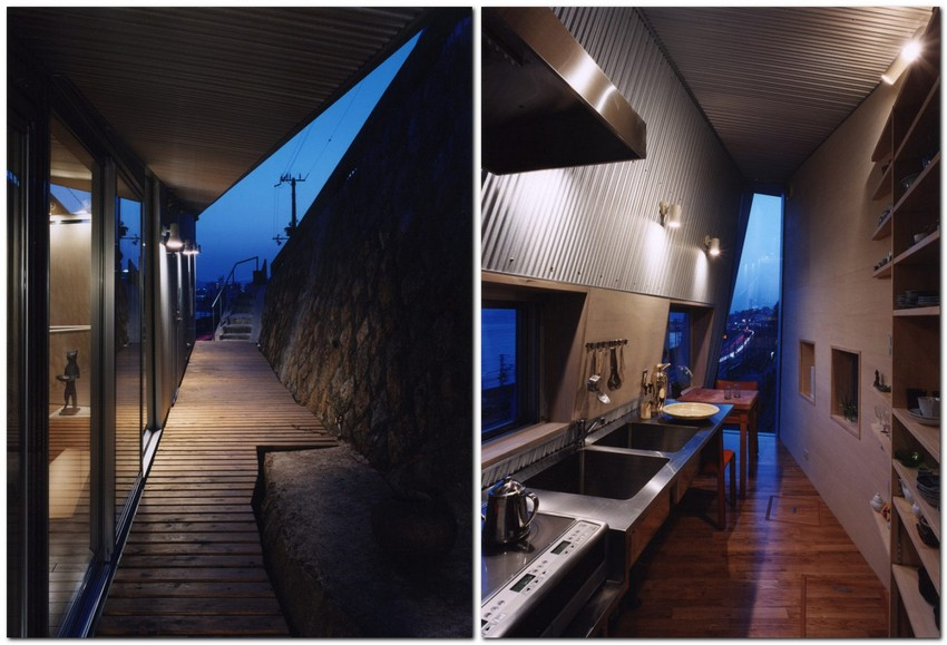 "3-world's-narrowest-houses-Rooftecture S""-by-Shuhei-Endo-in-Kobe-Japan-on-the-rock-edge-narrow-room-interior-design-unusual-architecture"