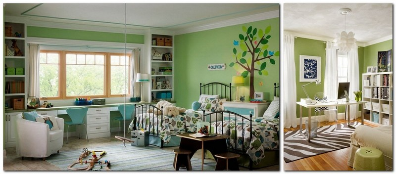 4-1-greenery-color-pantone-green-color-in-interior-design-toddler-room-kid's-bedroom-color-of-the-year-2017