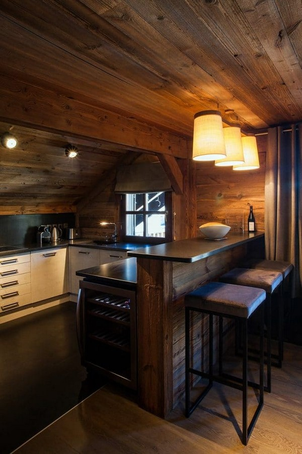 4-total-wooden-chalet-style-apartment-kitchen-interior-design-concrete-table-top