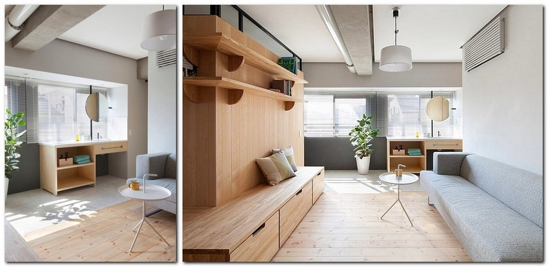 4-totally-wooden-apartment-with-unusual-L-shaped-layout-open-concept-wooden-floor-walls-furniture-living-room-concrete-ceiling-without-doors