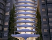 """Spine"" Hotel Being Built in Brazil"