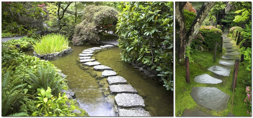 5-beautiful-Japanese-garden-stone-path-flat-rocks