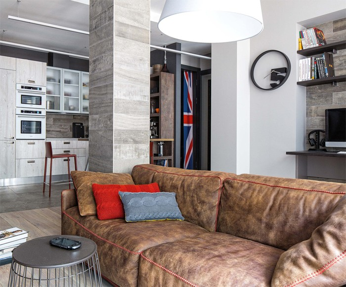 Bachelor\'s Apartment with Masculine British Temper | Home Interior ...