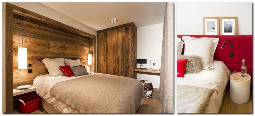6-chalet-style-interior-design-wood-bedroom-red-accents-headboard-wooden-closet