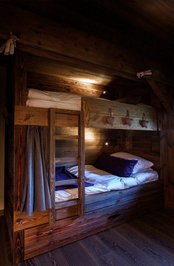 7-total-wooden-chalet-style-apartment-interior-design-loft-bed