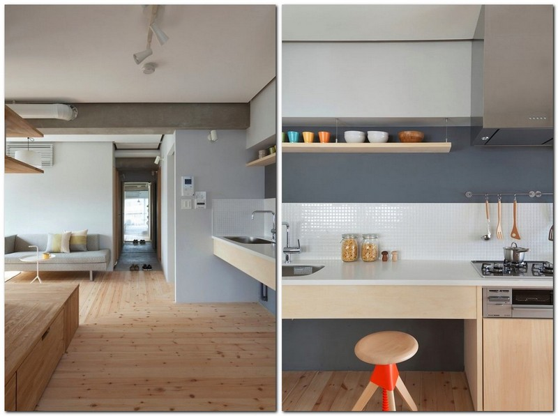 7-totally-wooden-apartment-with-unusual-L-shaped-layout-open-concept-wooden-floor-walls-furniture-concrete-ceiling-kitchen-living-room-without-doors