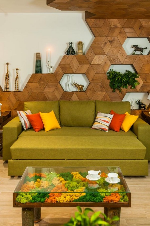 8-bright-green-yellow-brown-dining-living-room-interior-design-3D-wooden-wall-decor-olive-sofa-glass-coffee-table-stabilized-living-moss