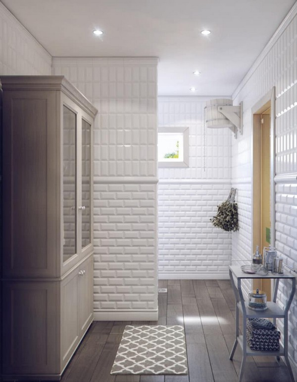 8-white-bathroom-interior-white-brick-tiles-with-beveled-edges-faux-wood-ceramic-floor-tiles-shower-room-glass-table-small-wardrobe-changing