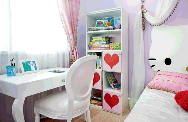 9-bright-toddler-kid's-girl's-bedroom-playroom-room-interior-design-pink-lilac-red-hello-kitty-inspired-furniture-decor