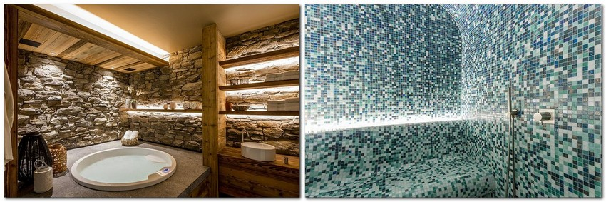 9-chalet-style-interior-design-stone-wood-bathroom-blue-mosaic-tiles