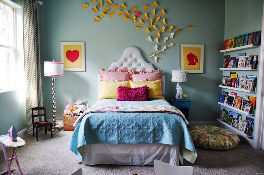 Awesome  butterfly wall art decor ideas yellow and