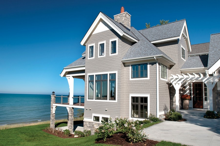 Gorgeous award winning big house with ocean view part 1 for Beach house siding ideas
