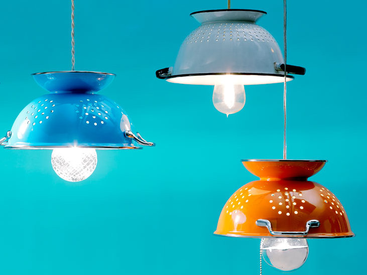 0 creative lamp ideas diy hand made colander