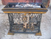 Vintage Handmade Fire Pit from a Treadle Sewing Machine