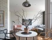 Minimalist Studio Apartment Decorated with Designer Furniture