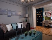 Subtle Hints of Nautical Style in Living Room Interior Design
