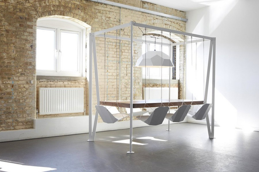 1-2-exclusive-creative-designer-table-by-Duffy-London-Swing-Table-with-swinging-chairs-on-chains-oak-wood-top