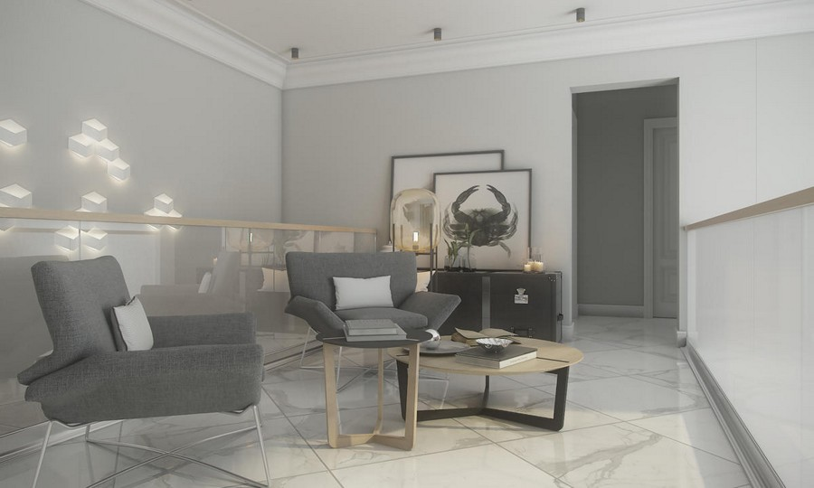 1-neutral-beige-and-gray-colors-interior-design-in-contemporary-style-gallery-arm-chairs-with-metal-framework-light-wood-coffee-tables-white-marble-floor-tiles-vintage-chest-of-drawers