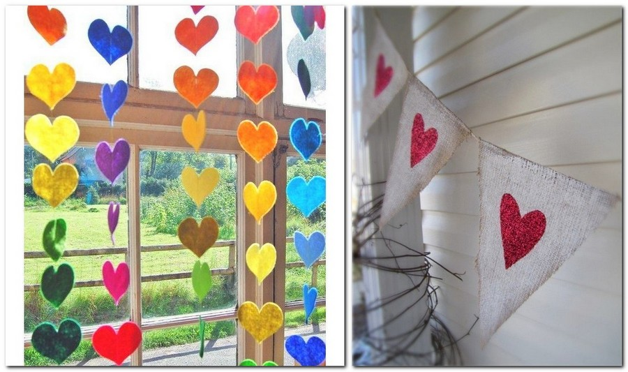 10-how-to-decorate-room-for-Valentine's-Day-decor-ideas-felt-textile-fabric-garland