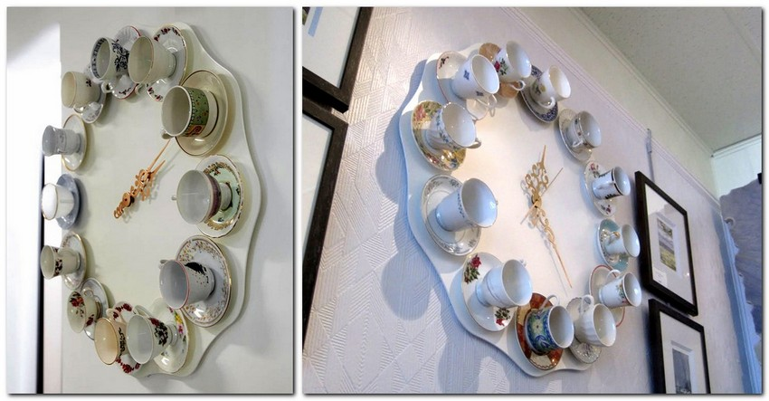 10-how-to-re-use-old-cups-and-saucers-ideas-wall-clock-DIY-handmade