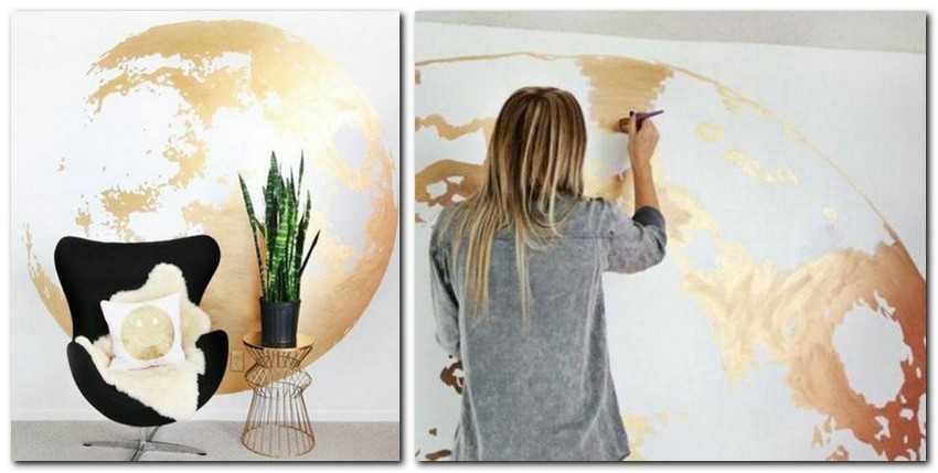 10-interesting-original-wall-decor-ideas-golden-painted-globe