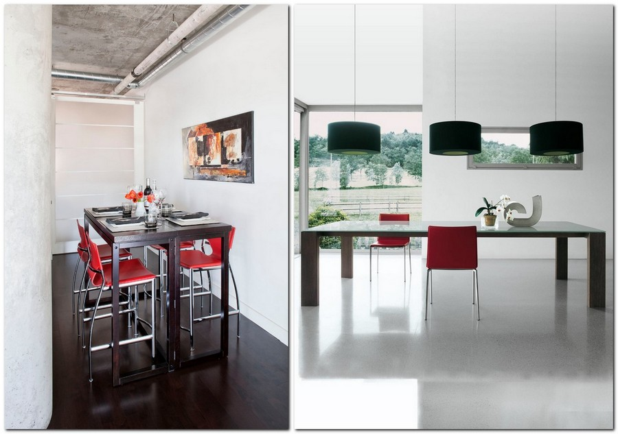 10-red-dining-chairs-accent-table-in-kitchen-interior-design-black-and-white